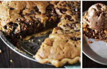 chocolate chips cookie taart